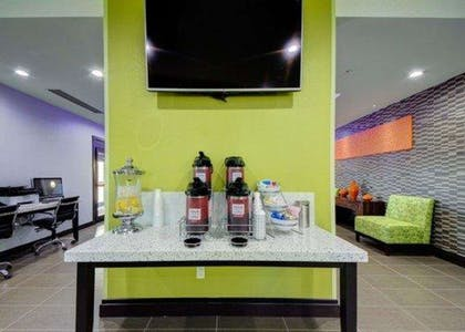 Enjoy coffee in the lobby | Comfort Inn & Suites Tulsa I-44 West - Rt 66