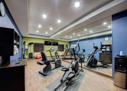 Fitness center with cardio equipment and weights | Comfort Inn & Suites Tulsa I-44 West - Rt 66