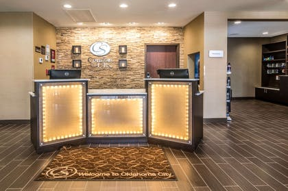 Front desk with friendly staff | Comfort Suites Airport on Meridian