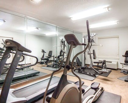 Fitness center with cardio equipment | Sleep Inn & Suites Edmond near University
