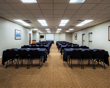 Meeting room with classroom-style setup | Sleep Inn & Suites Edmond near University