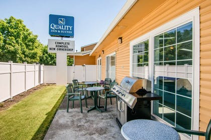 Patio | Quality Inn & Suites