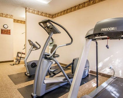 Exercise room with cardio equipment | Comfort Inn South