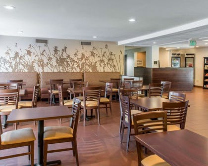 Enjoy breakfast in this spacious area | MainStay Suites Pittsburgh Airport