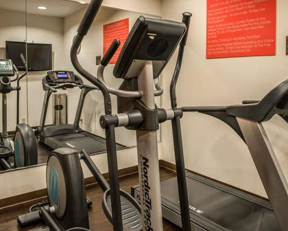 Fitness center with television | Comfort Suites Monroeville