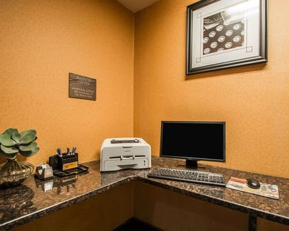 Business center with high-speed Internet access | Quality Inn & Suites NJ State Capital Area