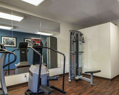 Fitness center with cardio equipment and weights | Quality Inn & Suites NJ State Capital Area