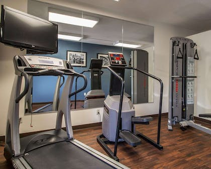 Fitness center with television | Quality Inn & Suites NJ State Capital Area
