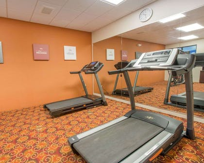 Fitness center with cardio equipment and weights | Comfort Suites Altoona