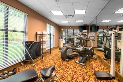 Exercise room with cardio equipment and weights | Comfort Inn & Suites Tunkhannock