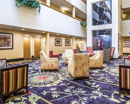 Spacious lobby with sitting area | Comfort Suites Anderson