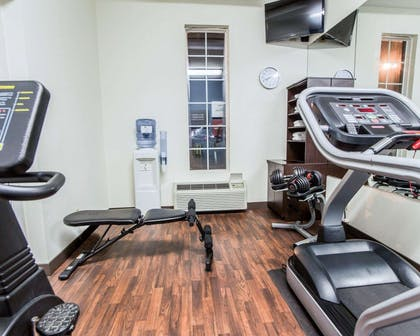 Fitness center with television | Comfort Suites Sumter