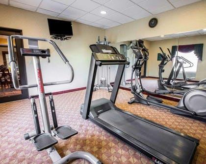 Fitness center with television | Comfort Inn & Suites at I-85