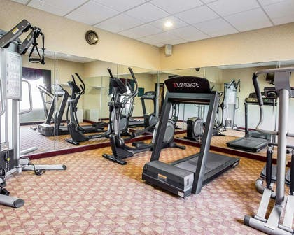 Exercise room with cardio equipment and weights | Comfort Inn & Suites at I-85
