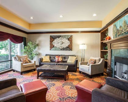 Spacious lobby with sitting area | Comfort Inn & Suites at I-85