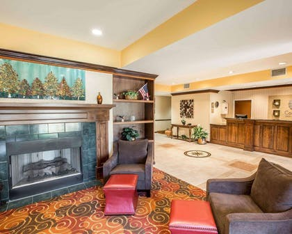 Lobby with fireplace | Comfort Inn & Suites at I-85