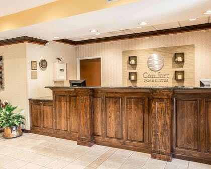 Front desk with friendly staff | Comfort Inn & Suites at I-85