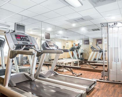 Fitness center with cardio equipment   Comfort Suites Rock Hill