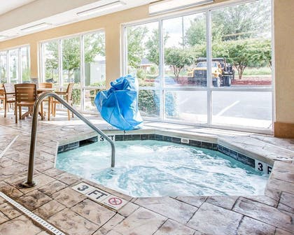 Relax in the hot tub   Comfort Suites Rock Hill