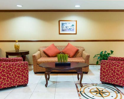 Spacious lobby with sitting area | Comfort Inn & Suites Convention Center