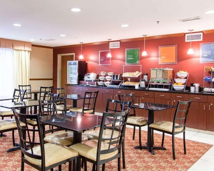 Enjoy breakfast in this spacious area | Comfort Inn & Suites Convention Center