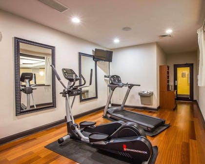 Fitness center with television | Comfort Suites Simpsonville
