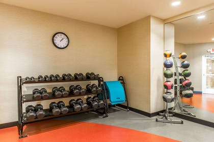 Exercise room with free weights | Cambria Hotel Rapid City near Mount Rushmore