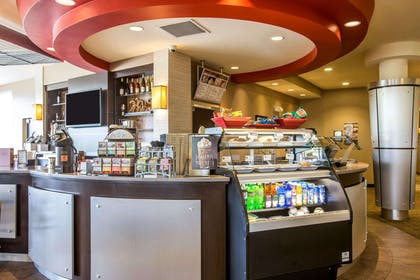The barista bar serves specialty coffees by Wolfgang Puck | Cambria Hotel Rapid City near Mount Rushmore