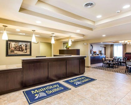 Hotel lobby   MainStay Suites