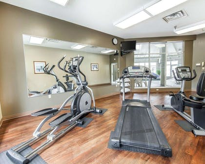 Fitness center with cardio equipment | MainStay Suites Conference Center