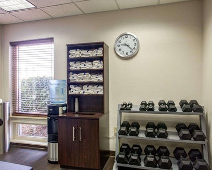 Fitness center with free weights | Comfort Suites