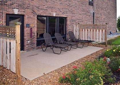 Relax on the hotel patio | Comfort Suites