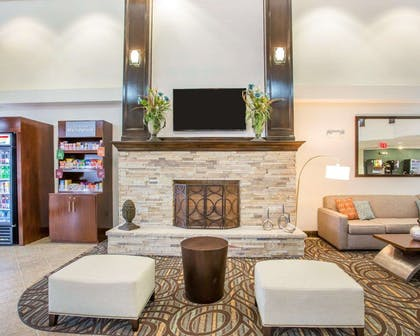 Spacious lobby with sitting area | Comfort Suites Lebanon