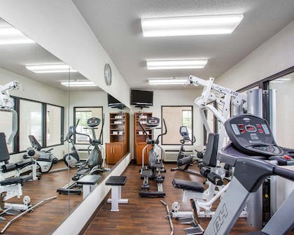 Fitness center with cardio equipment and weights | Comfort Suites Lebanon