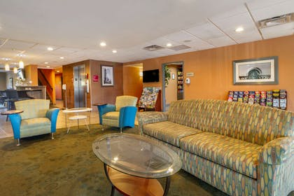 Spacious lobby with sitting area | Comfort Suites Knoxville West - Farragut