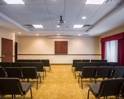 Meeting room with classroom-style setup | Comfort Suites Mount Juliet