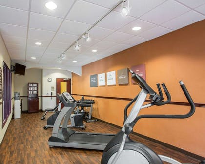 Fitness center with cardio equipment and weights | Comfort Suites Mount Juliet