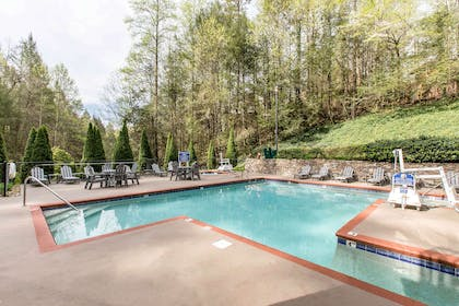 Relax in the hotel pool | Bluegreen Vacations Mountain Loft, Ascend Resort Collection