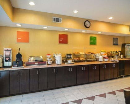 Assorted breakfast items | Comfort Suites DFW Airport