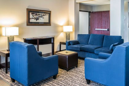 Lobby with sitting area | Comfort Suites Round Rock - Austin North I-35