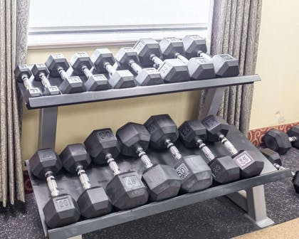 Fitness center with free weights | Econo Lodge Inn & Suites East