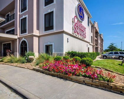 Beautiful flowers and shrubs surrounding the hotel   Comfort Suites Houston West at Clay Road