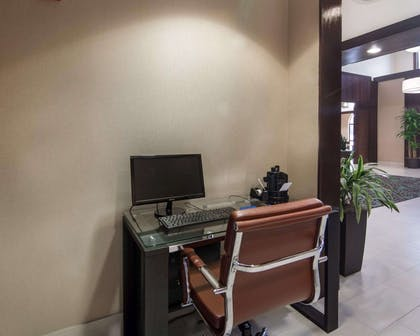 Business center with free wireless Internet access   Comfort Suites Houston West at Clay Road