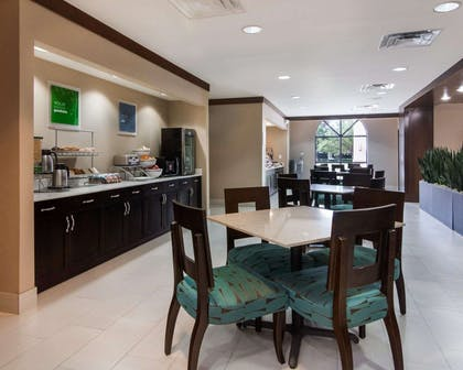 Breakfast area in the lobby   Comfort Suites Houston West at Clay Road