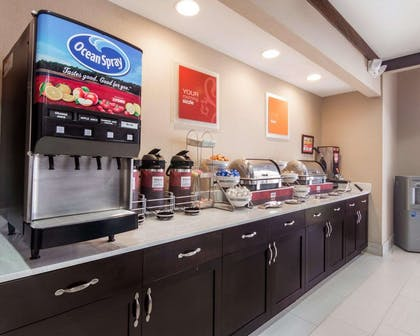 Assorted breakfast items   Comfort Suites Houston West at Clay Road