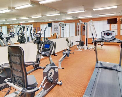 Exercise room with cardio equipment | Comfort Suites Roanoke - Fort Worth North