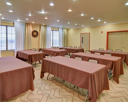 Meeting room with classroom-style setup | Comfort Suites Roanoke - Fort Worth North