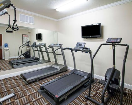 Fitness center with cardio equipment and weights | Comfort Inn Corsicana East