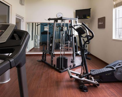 Fitness center with television | Comfort Suites Texarkana
