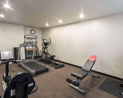 Fitness center with free weights   Comfort Inn Mansfield